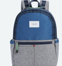 State State Kane Backpack- Navy/Heather Grey