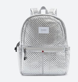 State State Kane Backpack- Silver Quilted