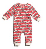 Winter Water Factory Winter Water Factory French Terry Jumpsuit- Firetrucks