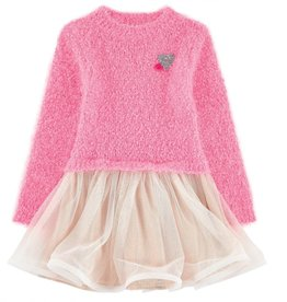 Billieblush Billieblush Sweater/Tulle Dress with Heart Detail