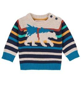 deux par deux Deux Par Deux Bear Knit Sweater