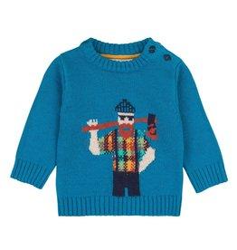 deux par deux Deux Par Deux Lumberjack Knit Sweater