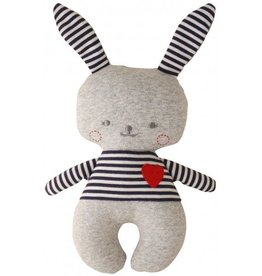 Alimrose Alimrose Sonny Bunny Rattle Grey Marle and Navy