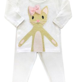 Oh Baby Oh Baby Phoebe Kitty Gold 2PC Set