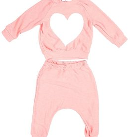 Joah Love Joah Love Heart Print Faux Cashmere Set