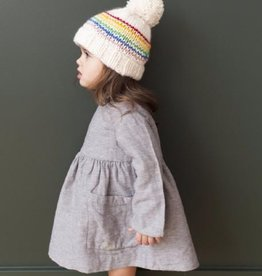 The Blueberry Hill Rainbow Knit Hat