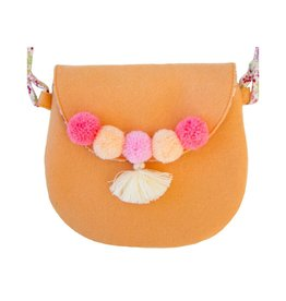 Everbloom Pompom Purse Peach