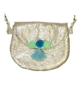 Everbloom Pompom Purse Silver