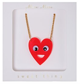 Meri Meri Meri Meri Heart with Eyes Necklace