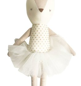 Alimrose Alimrose Ballerina Reindeer Gold & Ivory