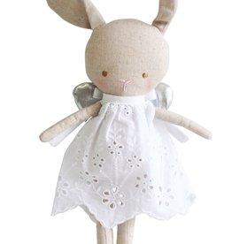 Alimrose Alimrose Linen Baby Angel Bunny Silver