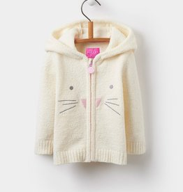 Joules Joules Chenille Bunny Zip Hoodie