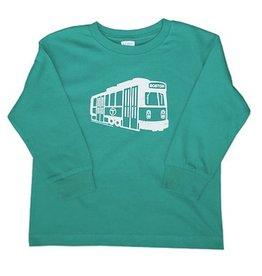 Sidetrack Sidetrack Green Line Long Tee Shirt