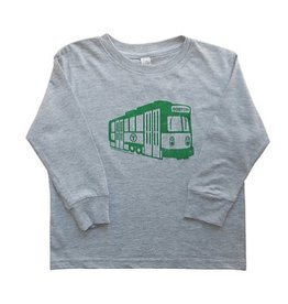 Sidetrack Sidetrack Green Line Long Sleeve Tee Shirt