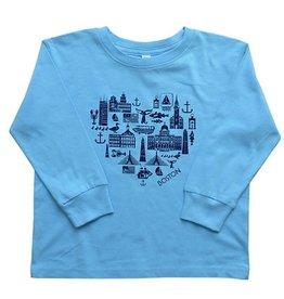 Sidetrack Sidetrack Boston Icon Tee Shirt Blue