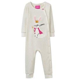Joules Joules Regal Hare Applique Baby Grown Suit