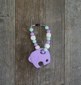Summer Lulu Summer Lulu Lavender Elephant Baby Carrier Teether