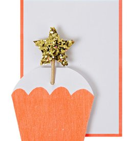 Meri Meri Meri Meri Cupcake with Star Gift Enclosure Card
