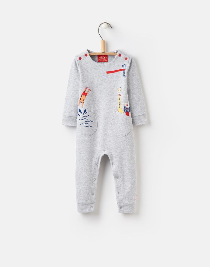 Joules Joules Fife Applique Baby Growsuit ...
