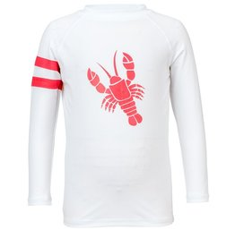 Snapper Rock Snapper Rock White Lobster Rash Guard UV50