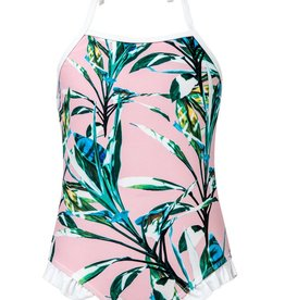 Snapper Rock Snapper Rock Royal Palm Halter Swimsuit UV50+