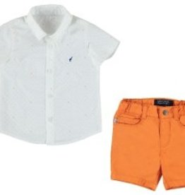 Mayoral Mayoral Shorts and Printed Shirt Set