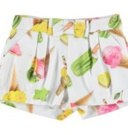 Mayoral Mayoral Satin Shorts with Printed Ice Cream