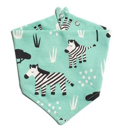 Winter Water Factory Winter Water Factory Kerchief Bib- Zebras