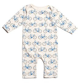 Winter Water Factory Winter Water Factory Long Sleeve Romper- Bicycles