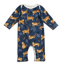 Winter Water Factory Winter Water Factory Long Sleeve Romper- Wildcats
