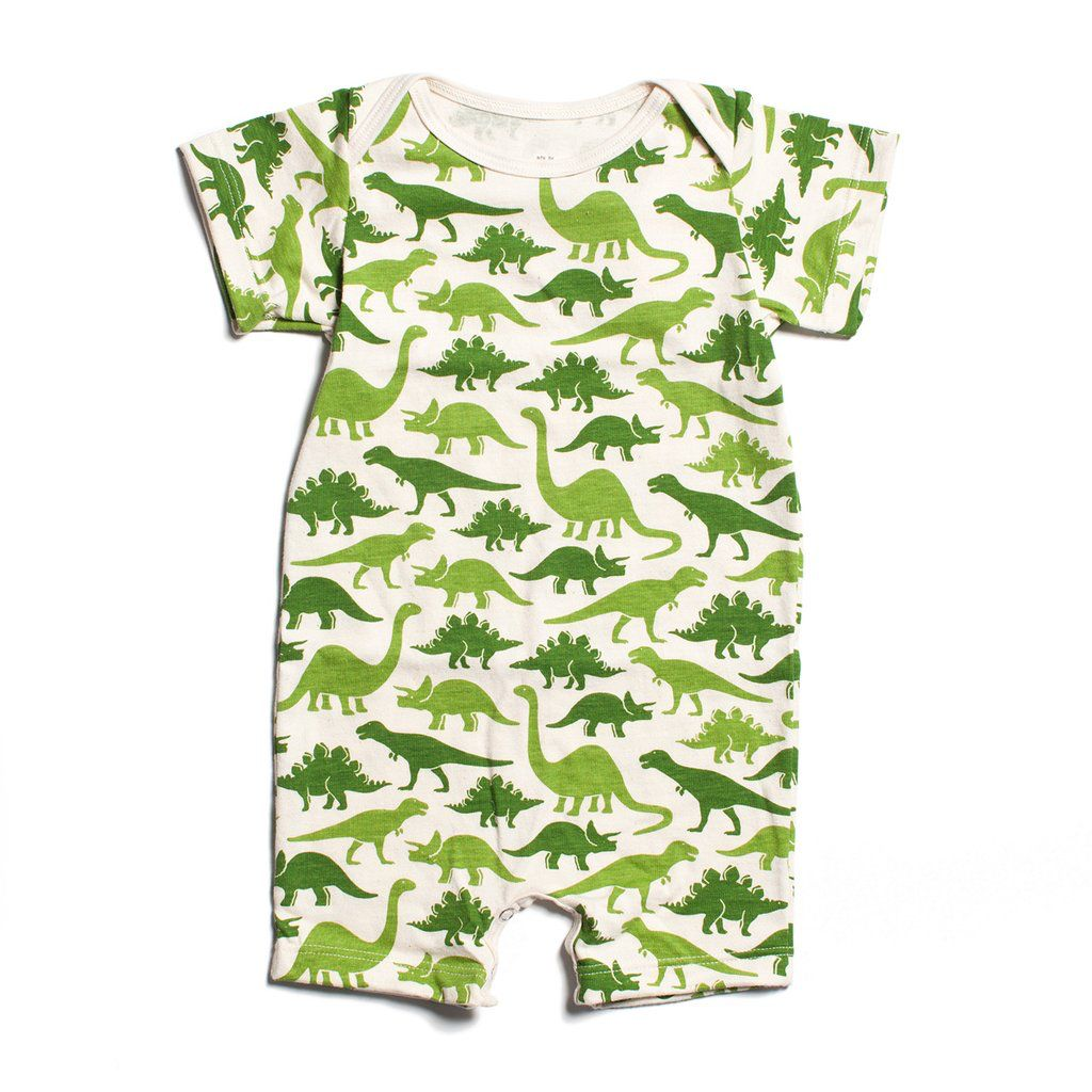 Winter Water Factory Winter Water Factory Summer Romper- Dino