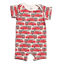 Winter Water Factory Winter Water Factory Summer Romper- Firetrucks