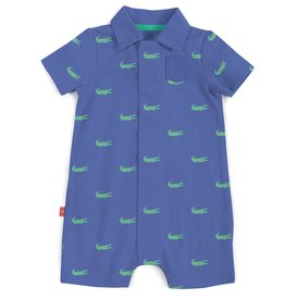 Magnificent Baby Magnificent Baby Alligators Pique Polo Romper