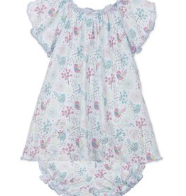 Feather Baby Feather Baby Regal Bird Petal Sleeve Dress and Bloomer