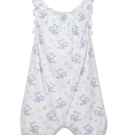 Feather Baby Feather Baby Sleepy Whales Sleeveless Romper