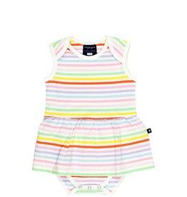 Tooby Doo Baby Ballerina Stripe Bodysuit Dress