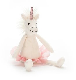 "JellyCat Jelly Cat Dancing Darcey Unicorn 9"" Small"