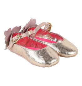 Billieblush Billieblush Baby Iridescent Leather Ballerinas with Floral Back