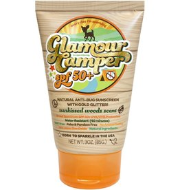 Sunshine & Glitter Glamour Camper SPF 50+All Natural Sunscreen with All Natural Bug Repellent & Glitter