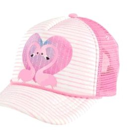 San Diego Hat Flamingo Heart Trucker Hat