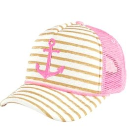 San Diego Hat Anchor Stripe Trucker Hat
