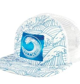 "San Diego Hat Waves With Printed ""Summer"" Logo Trucker Hat"