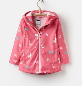 Joules Joules Bright Pink Festival Friends Raincoat