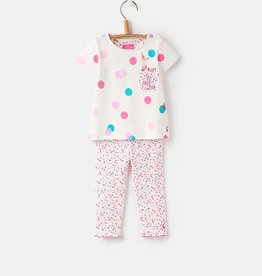 Joules Joules Winn Short Sleeve Top and Pant Set