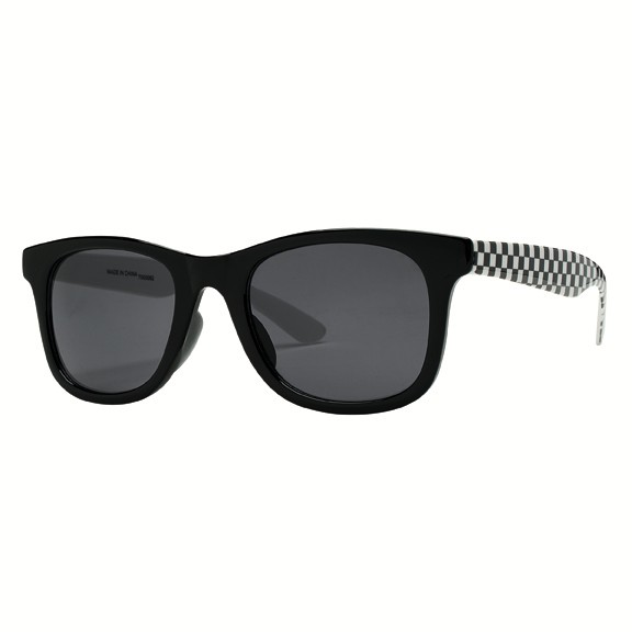 San Diego Hat Square Frame Sunglasses with Check Print