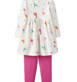 Joules Joules Christina Festive Friends Dress and Leggings Set