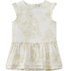 Petit Bateau Petit Bateau Rose Print Sparkle Dress