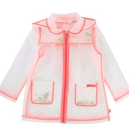 Billieblush Billieblush Transparent Hooded Raincoat with Confetti Inside