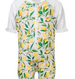 Snapper Rock Snapper Rock Lemon Short Sleeved Sunsuit