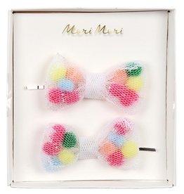 Meri Meri Meri Meri Pom Pom Net Bow Hair Slides